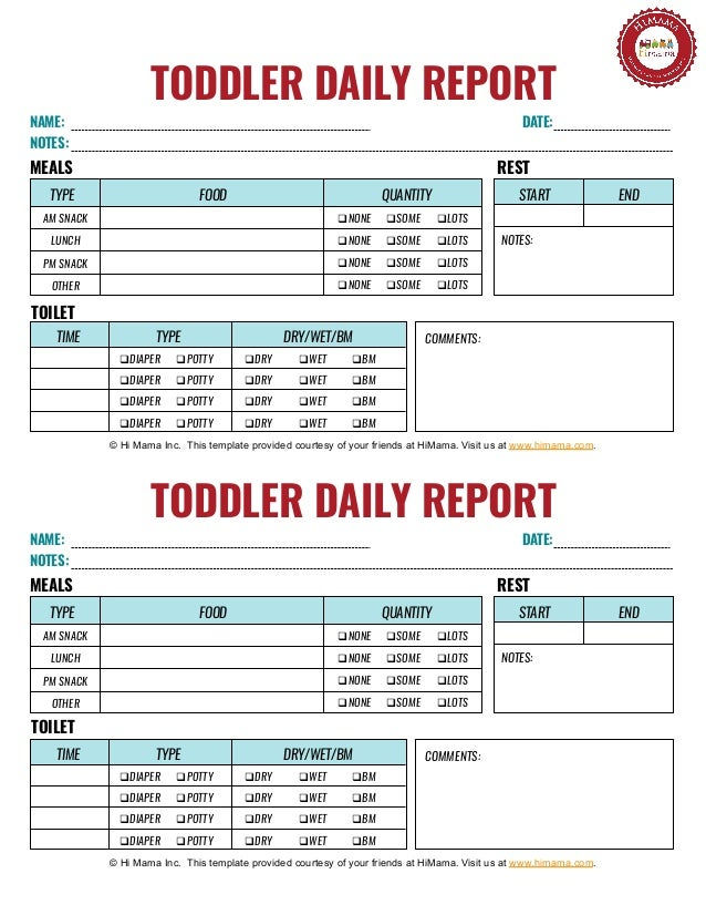 image about Daily Sheets named Child Each day Sheet