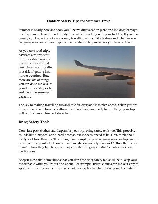 Toddler Safety Tips For Summer Travel