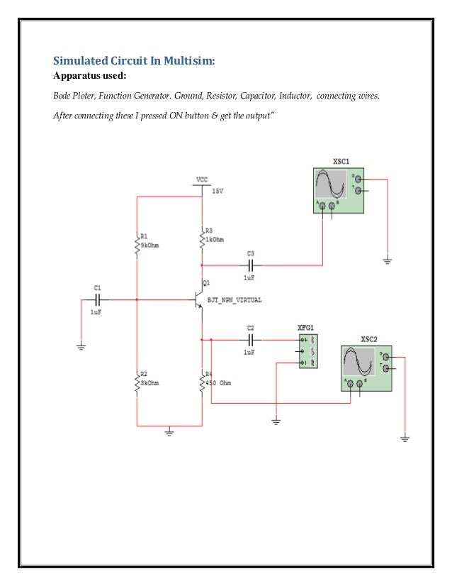 To design a common base amplifier using multisim