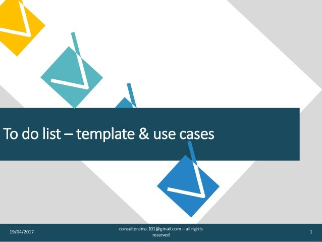 to do list template use cases