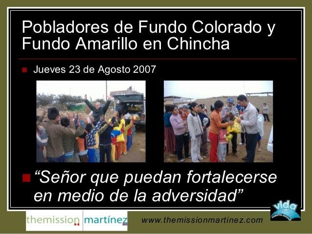 """Pobladores de Fundo Colorado y Fundo Amarillo en Chincha  Jueves 23 de Agosto 2007  """"Señor que puedan fortalecerse en me..."""