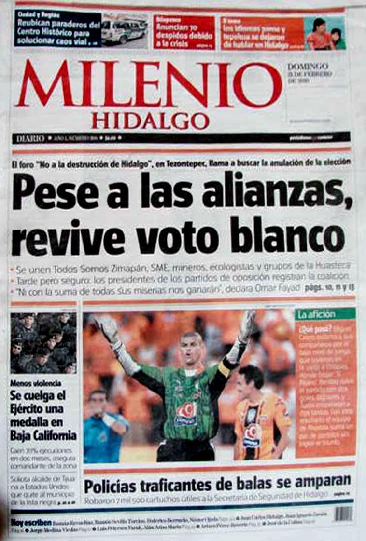"""2010-02-21•Región Organizaciones civiles realizan foro """"No a la destrucción de Hidalgo""""    Grupos sociales llaman a votar ..."""