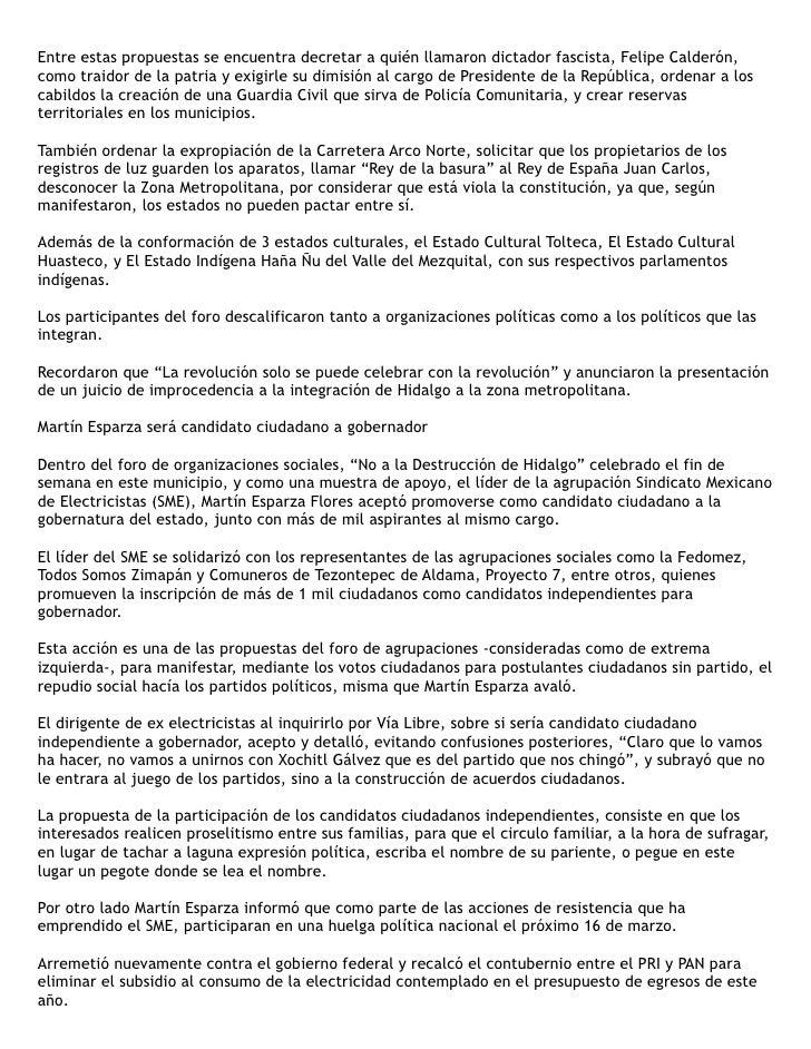 """""""Verdaderos perredistas no están de acuerdo con la coalición""""                                       Domingo, 21 de Febrero..."""