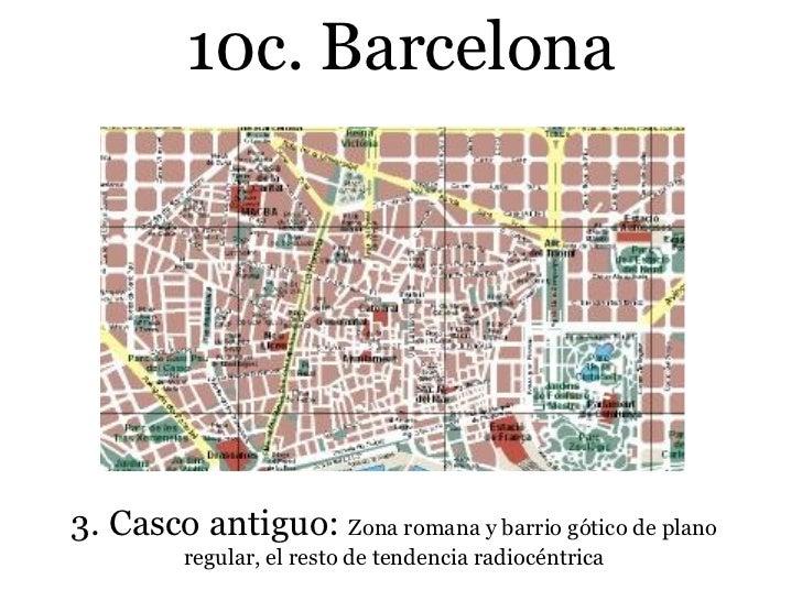 Planos urbanos ciudades villas y pueblos de espa a 1 - Casco antiguo de barcelona ...