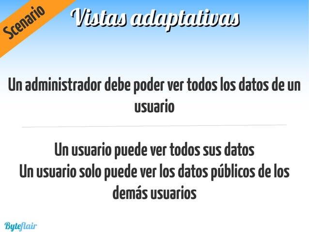 /users/{id} /owner/users/{id} /admin/users/{id} UnaURIporcadaroldeseguridad Scenario Byteflair Vistas adaptativasVistas ad...