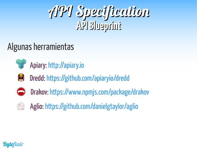 Byteflair SwaggerSwagger APIAPI SpecificationSpecification Reverb Primera versión: Julio 2011 Objetivos:  En un principio...