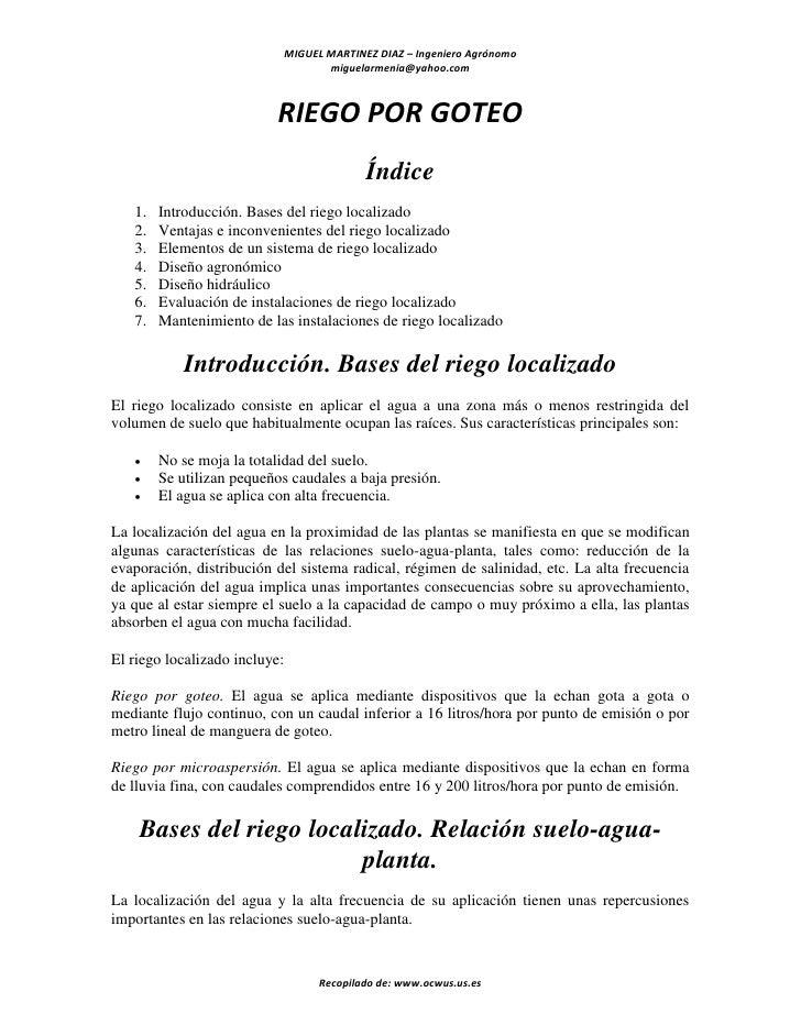 MIGUEL MARTINEZ DIAZ – Ingeniero Agrónomo                                      miguelarmenia@yahoo.com                    ...