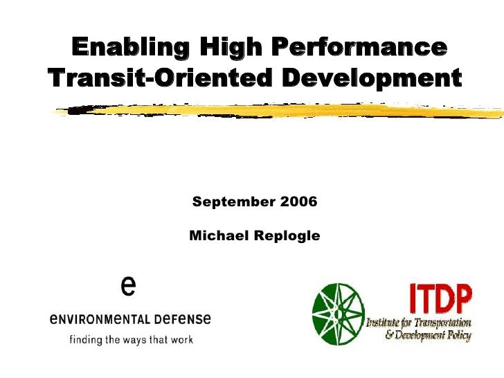 summery of transit oriented development Transit-oriented development technical assistance: first summary report (fta report no 0101.