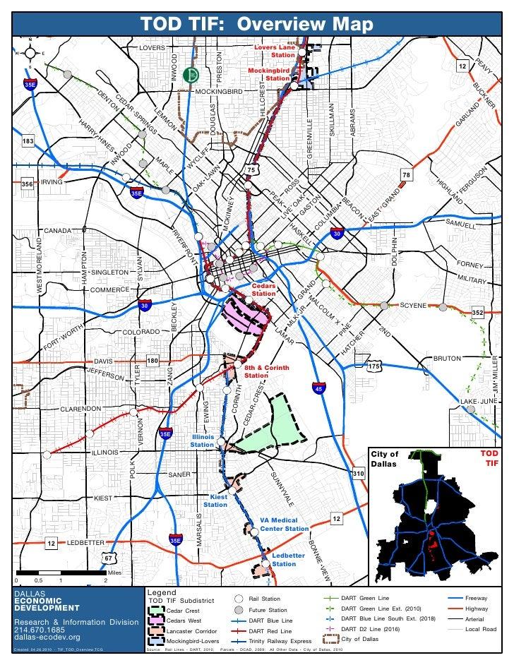 TOD TIF Map Dallas Texas