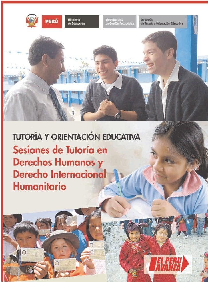 Ministerio     Viceministerio          Dirección  PERÚ   de Educación   de Gestión Pedagógica   de Tutoría y Orientación E...