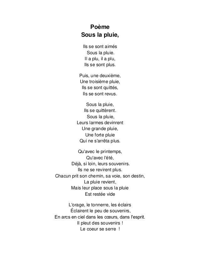 Poème Sous La Pluie