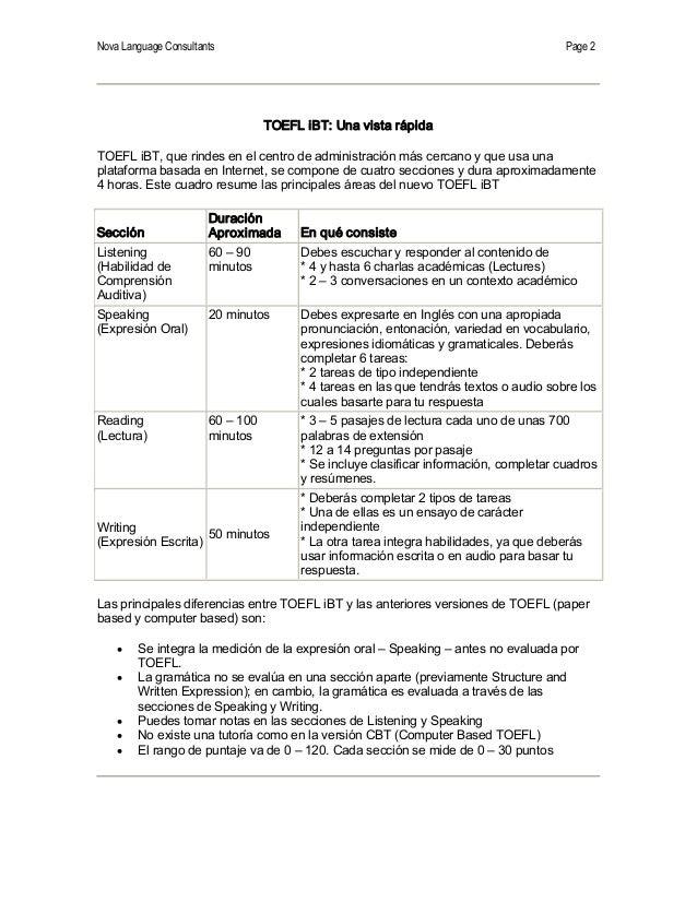 TOEFL iBT:  Cambios2006 Slide 2