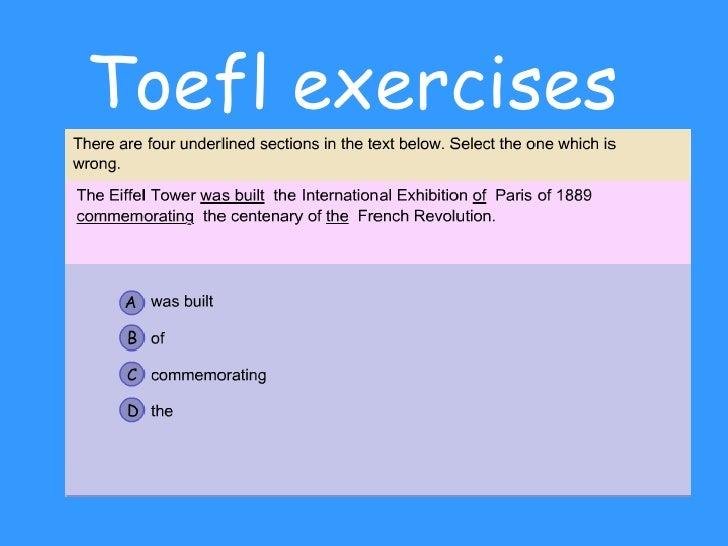 Toefl exercises