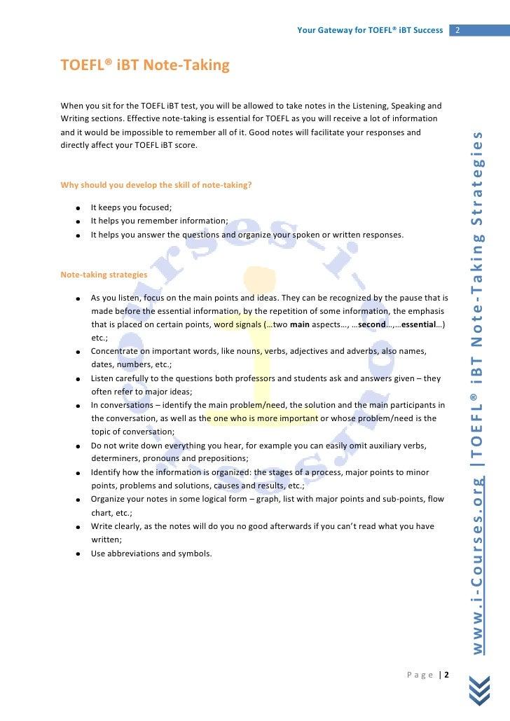 how to improve writing skills in toefl ibt