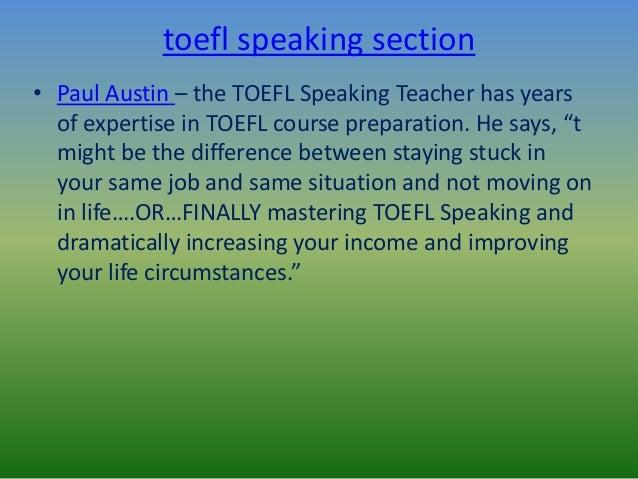Toefl practice speaking questions Slide 3
