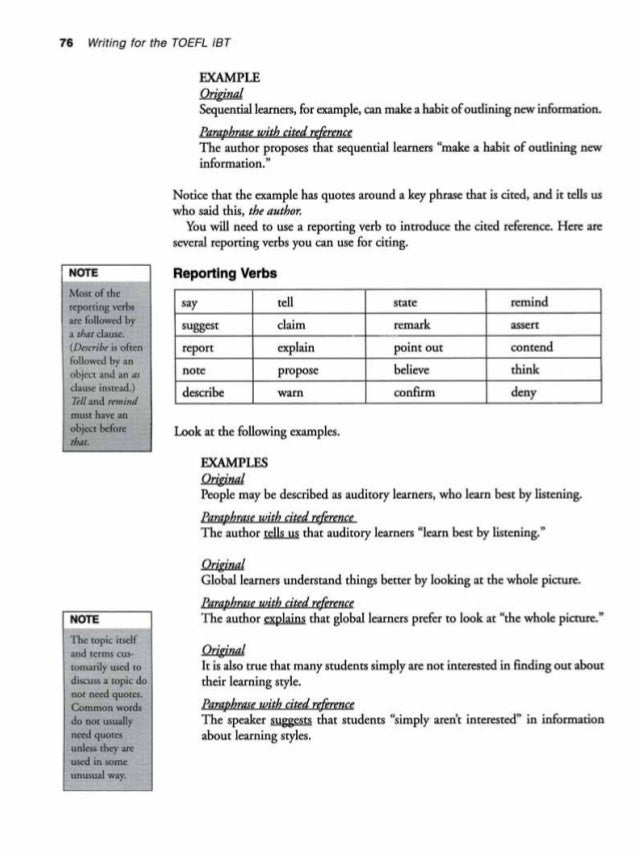 toelf writing example Get to know the toefl exam with this free toefl ibt sample test reading and  listening sections are scored speaking and writing parts are for practice but.