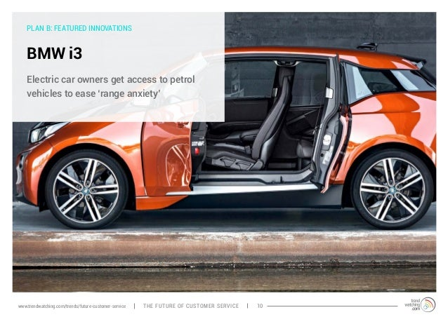 PLAN B: FEATURED INNOVATIONS  BMW i3  Electric car owners get access to petrol  vehicles to ease 'range anxiety'  www.tren...