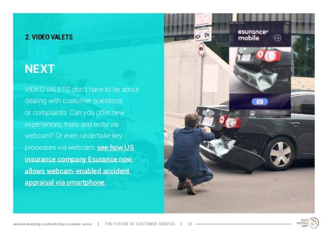 2. VIDEO VALETS  NEXT  VIDEO VALETS don't have to be about  dealing with customer questions  or complaints. Can you offer ...