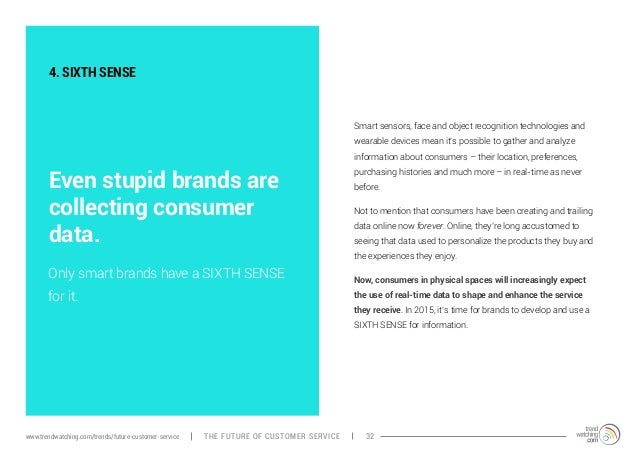 4. SIXTH SENSE  Even stupid brands are  collecting consumer  data.  Smart sensors, face and object recognition technologie...