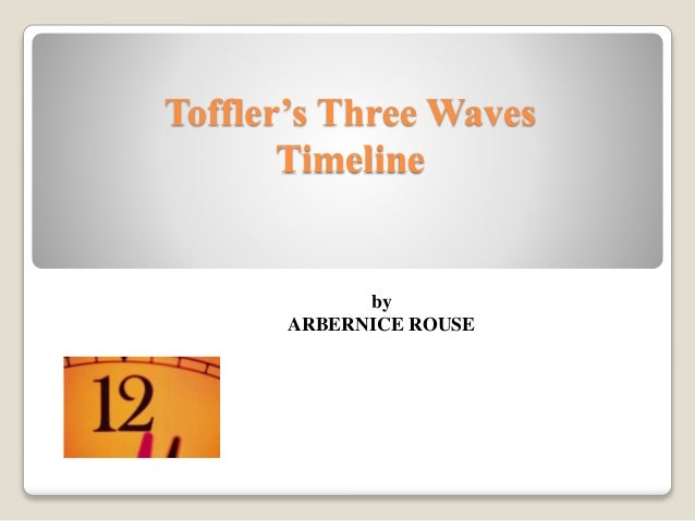 Toffler's Three Waves Timeline by ARBERNICE ROUSE