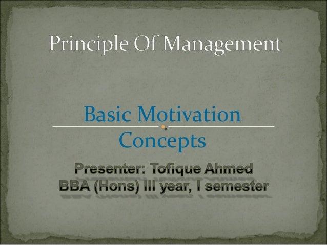Basic MotivationConcepts