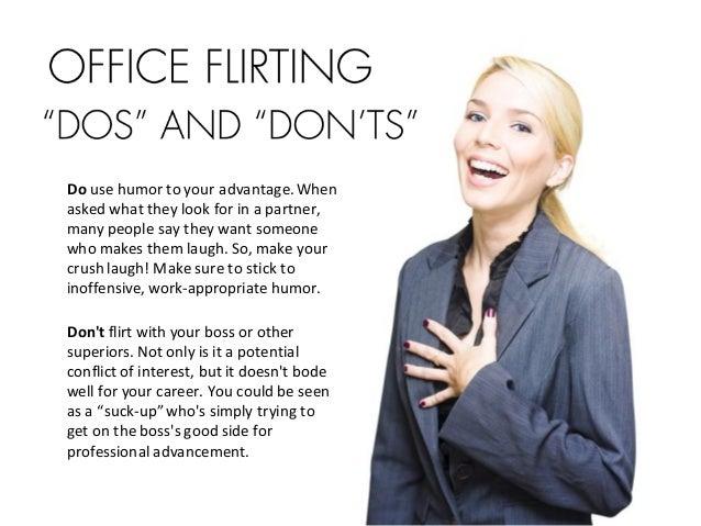 Flirting coworker
