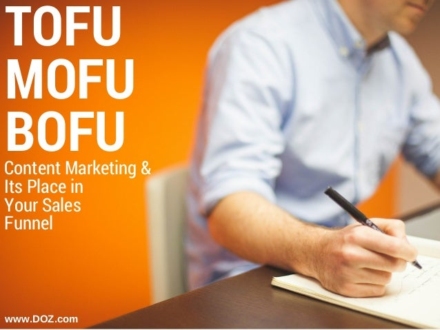 TOFU MOFU BOFU www.DOZ.com Content Marketing & Its Place in Your Sales Funnel