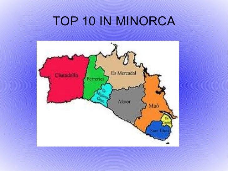 TOP 10 IN MINORCA
