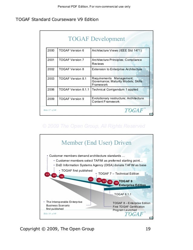 the open group architecture framework togaf 8.1 1 pdf edition