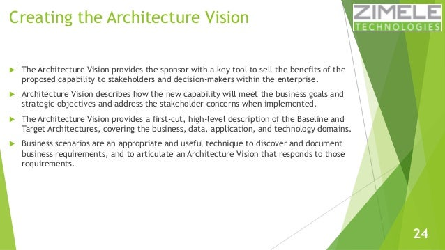 togaf architecture vision template - learn togaf 9 1 in 100 slides