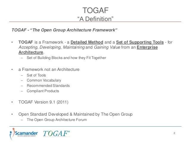 Togaf 9 an introduction for Togaf definition