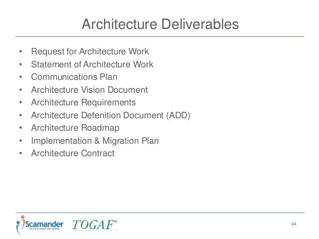 togaf architecture definition document Togaf in a nutshell  architecture definition document descriptive artefacts identify architecture building blocks and how they are related architecture.
