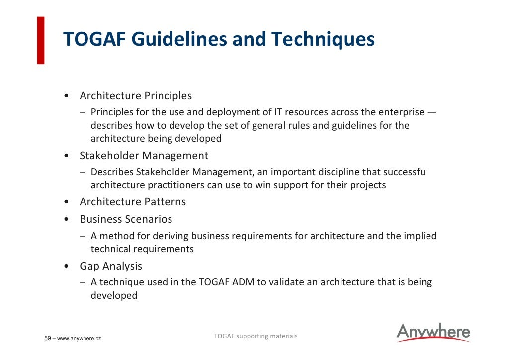 Togaf roadshow for Togaf definition