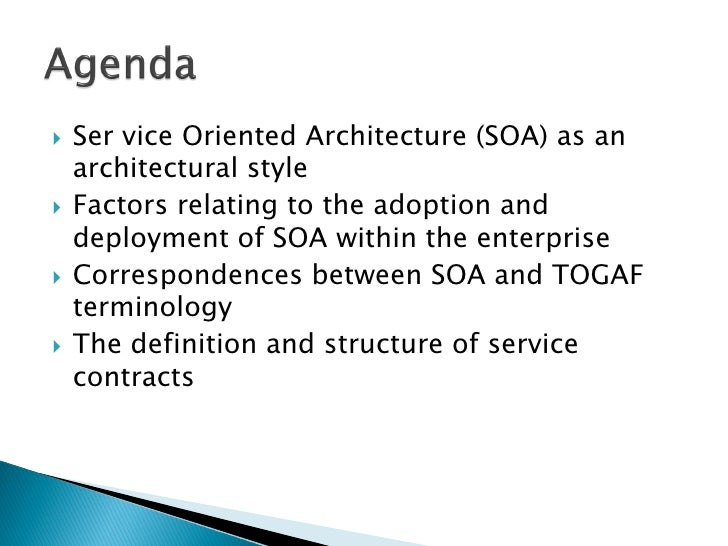 Togaf 9 soa governance ver1 0 for Togaf definition