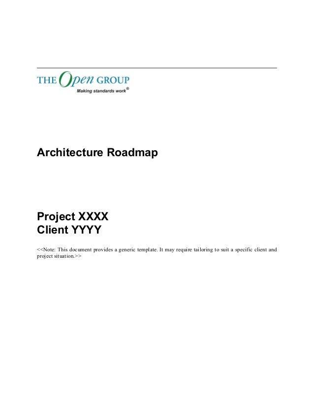 Togaf Template Architecture Roadmap - Solution roadmap template