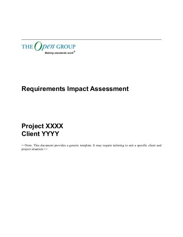 Togaf  Template Requirements Impact Assessment