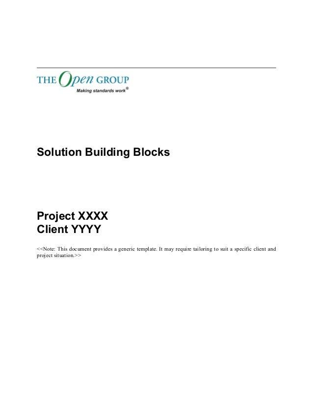 togaf 9 template solution building blocks