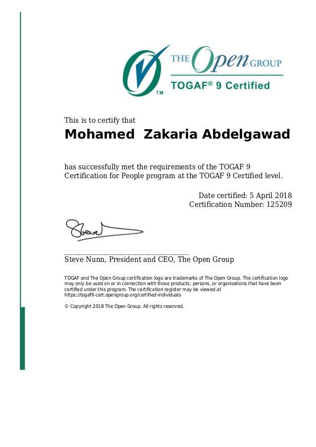 togaf certification certified slideshare upcoming