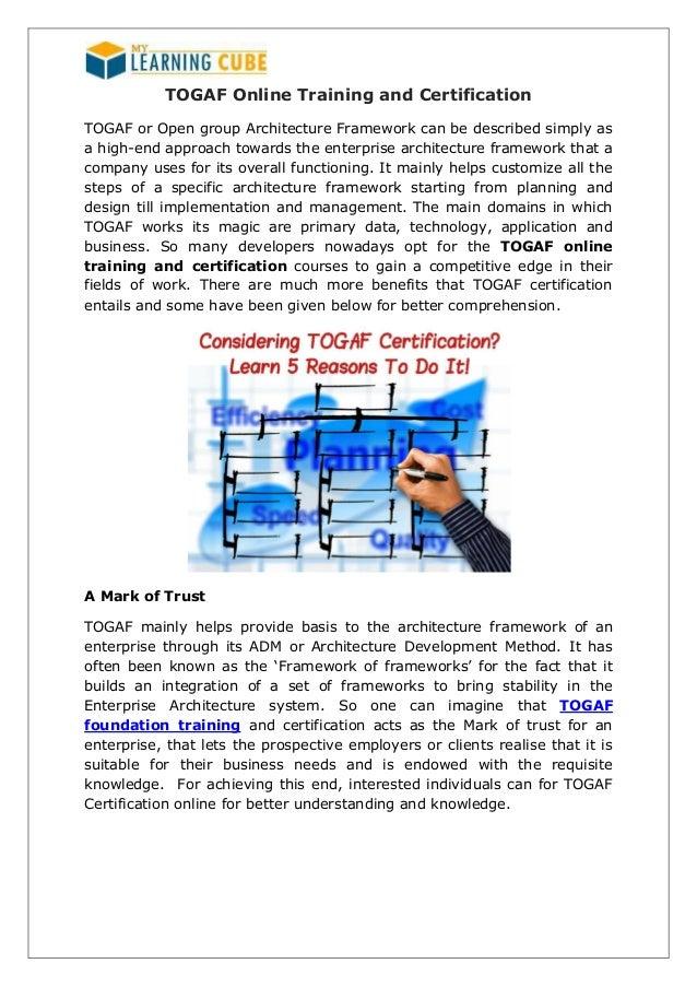 Togaf Online Training And Certification