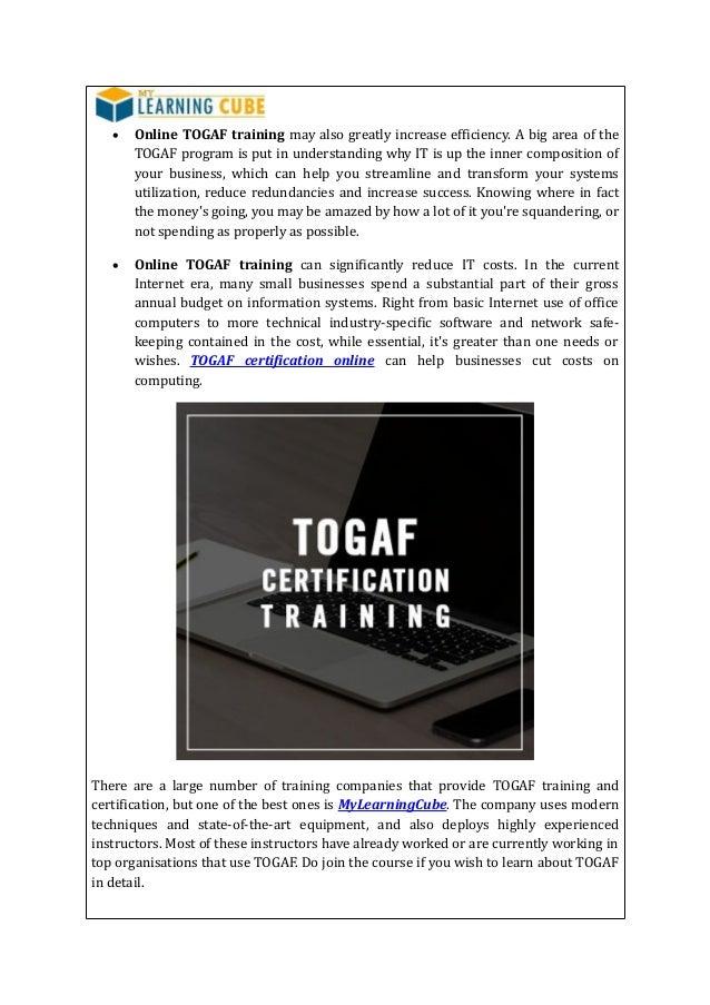 Togaf Online Training Certification
