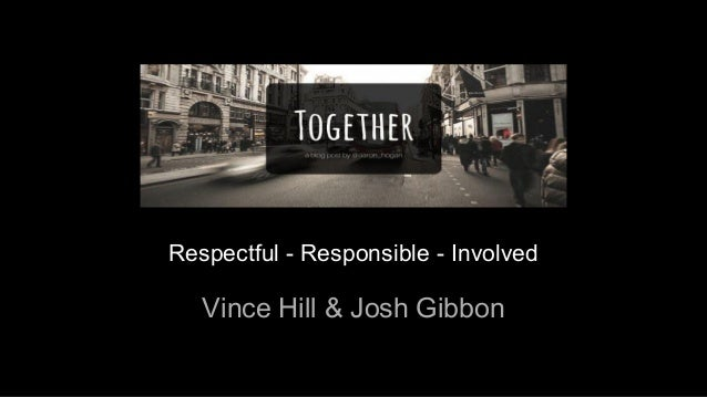 Respectful - Responsible - Involved Vince Hill & Josh Gibbon