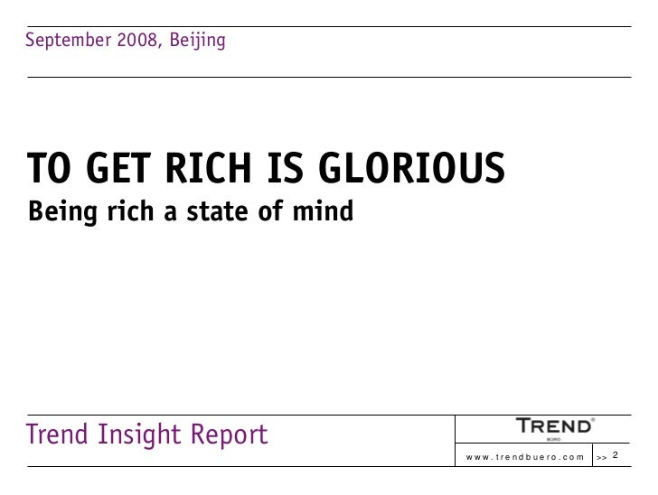 LUXURY IN CHINA: Get Rich Is Glorious Slide 2