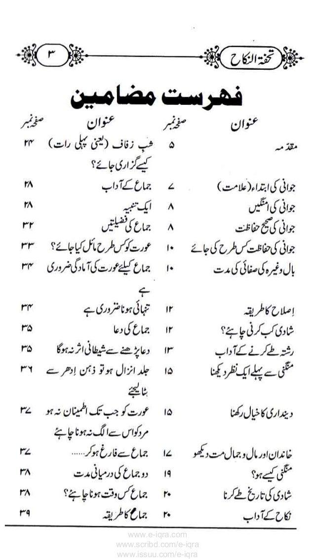 Tohfa E Dulhan Book In Urdu