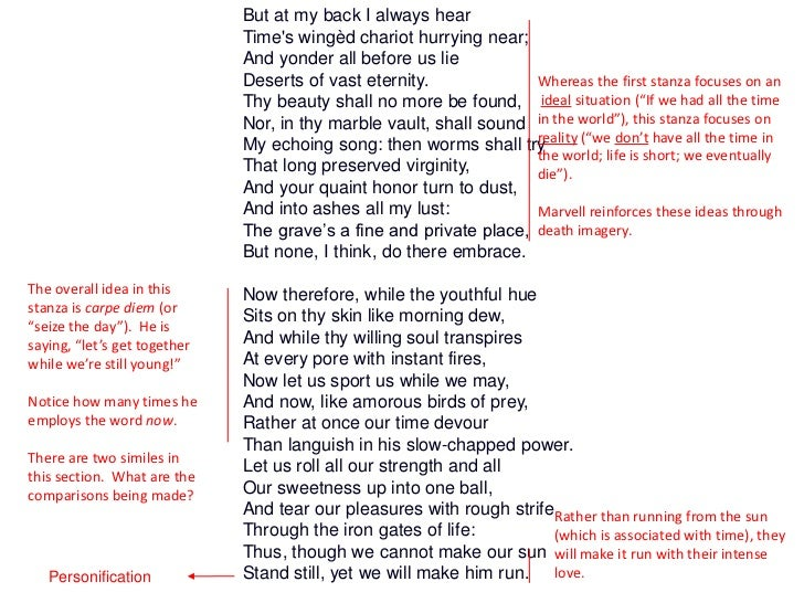 an analysis of andrew marvells poem to his coy mistress Marvell, andrew 'to his coy mistress': annotated published: 18/12/2002 ks4 | poetry 1 page 'to his coy mistress': annotated annotated version of the poem.