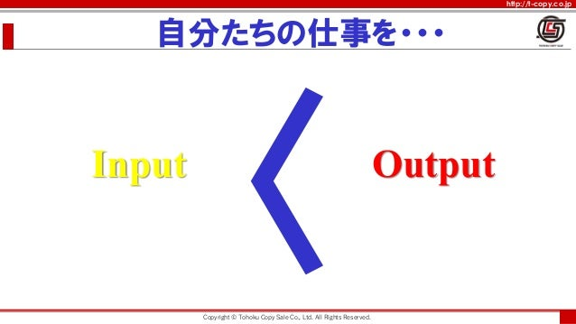 http://t-copy.co.jp Input Output , . .. ,