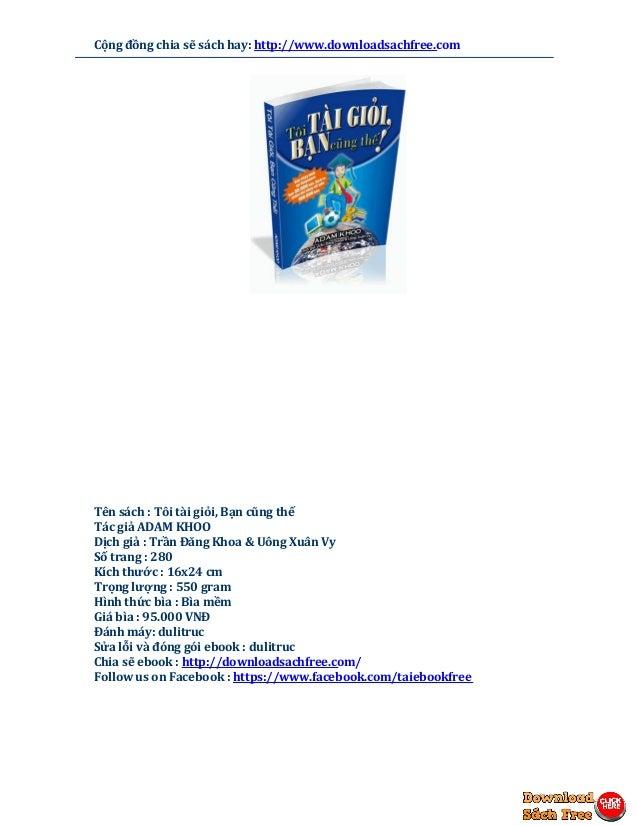 Tôi tài giỏi bạn cũng thế (Adam Khoo) pdf free download Slide 3