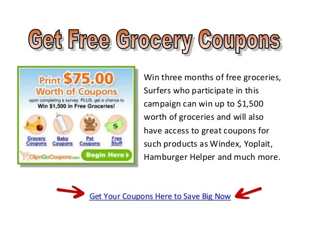 Win three months of free groceries,              Surfers who participate in this              campaign can win up to $1,50...