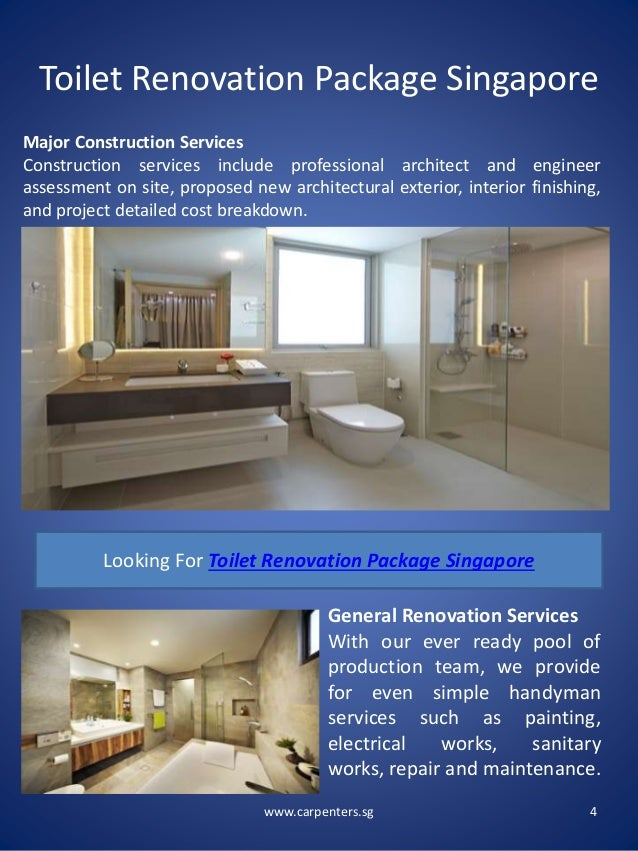 Toilet renovation package singapore for Bathroom renovation package