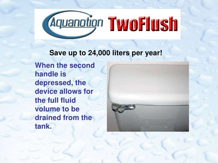 Economically Convert Your Existing Toilet To A Twoflush System