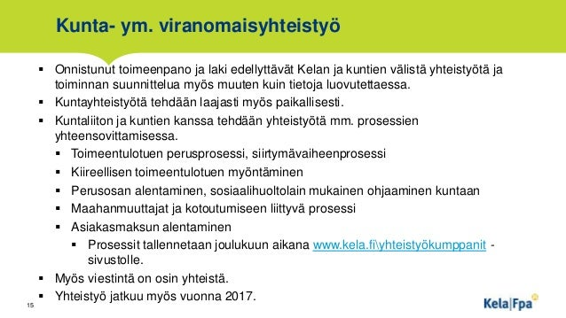 Toimeentulotuki info 7.11.2016. Kela, Marja-Leena Valkonen